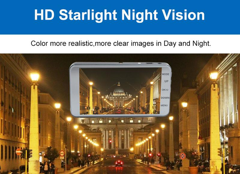 Full HD-Auto DVR 2Ch Front 170 ° Rückseite 120 ° 1080P Armaturenbrett Camcorder WDR G-Sensor Loop Aufnahme Parkmonitor Dashcam Videorecorder