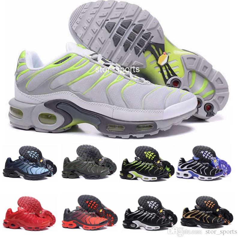 2018 Chaussures Tn Running Shoes For Men Fashion Air Sole Triple