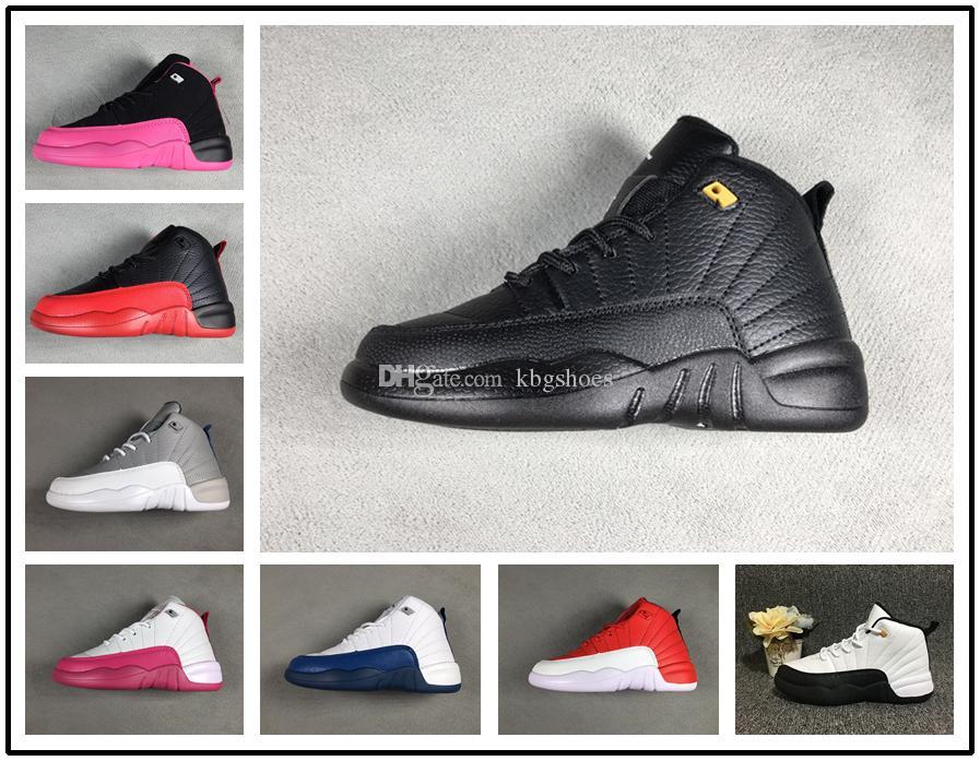 2e1cfb75dc1ef Acheter Nike Air Jordan Aj12 2018 New Kids Basketball Chaussures 12s Le  Master Chaussures Pour Enfants Sneakers Garçons Filles Chaussures De Sport  Taille 28 ...