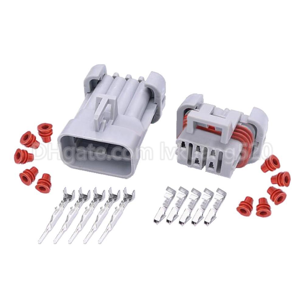 5 Pin Automotive Waterproof Connector Harness Connector with Terminal Plug DJ7051Y-1.5-11/21