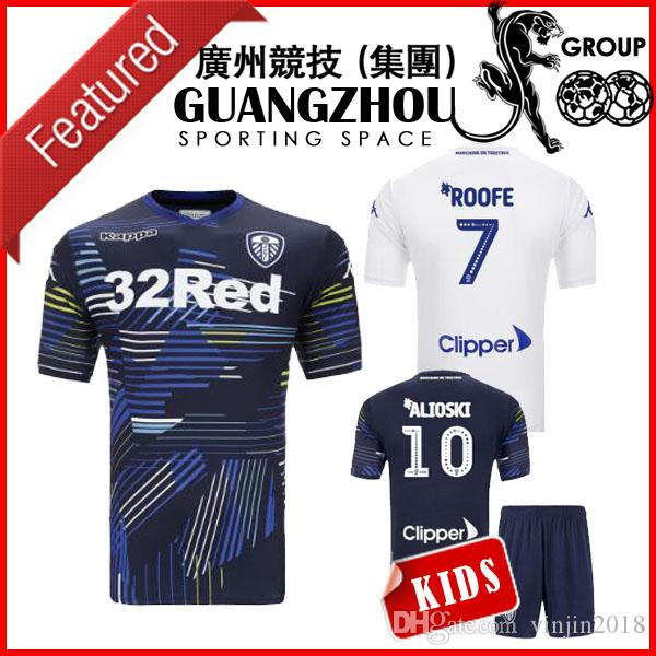 77d70f928 2018 Leeds United Kids Soccer Jerseys Home Away ALIOSKI 10 ROOFE ...