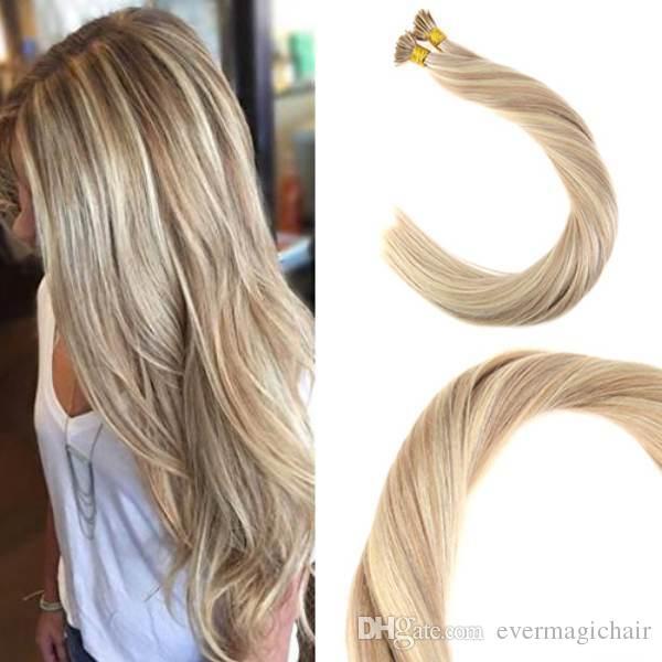 Balayage Human Hair I Tip Extensions 18613 I Tip Fusion Prebonded