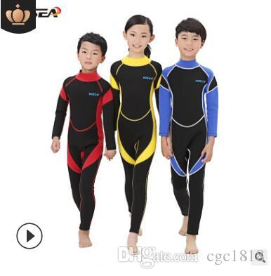 f2db7870f Children's Diving Suits Boys And Girls Winter Cold Warm Snorkeling ...