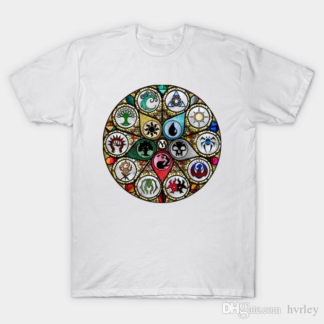 557674779c65 Magic The Gathering MTG Stained Glass T-shirts Korte Mouwen O-hals ...