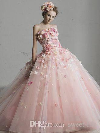 2019 Güzel Prenses A-Line Quinceanera Elbiseler Bateau Kollu Tam Yay Ile Büyük El Yapımı Çiçekler Sweep Tren Balo Akşam Parti Törenlerinde