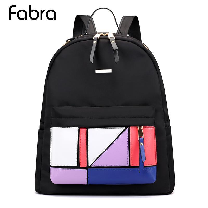 Women Backpack Black Student School Bags For Teenagers Girls Waterproof  Nylon Color Shoulder Bag Daypacks Preppy Style Backpack Kids Backpacks  Dakine ... f7e236f1a5c5d