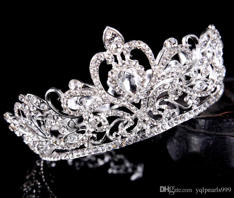 Brautschmuck, Silberkreis, Diamant, Kronprinzessin Braut Krone Hochzeit Zubehör.