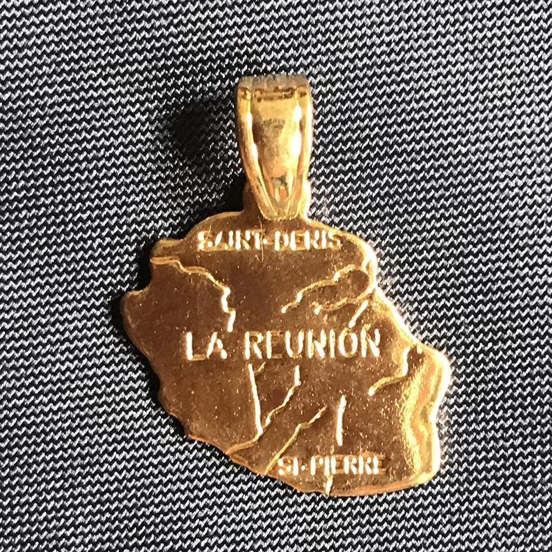 Kolye Mücevher Özel Promosyon Hediye Asma Yapımı l Ile de la Reunion Harita Bakır Pirinç kolye 18K altın kaplama Bildirimi Charms