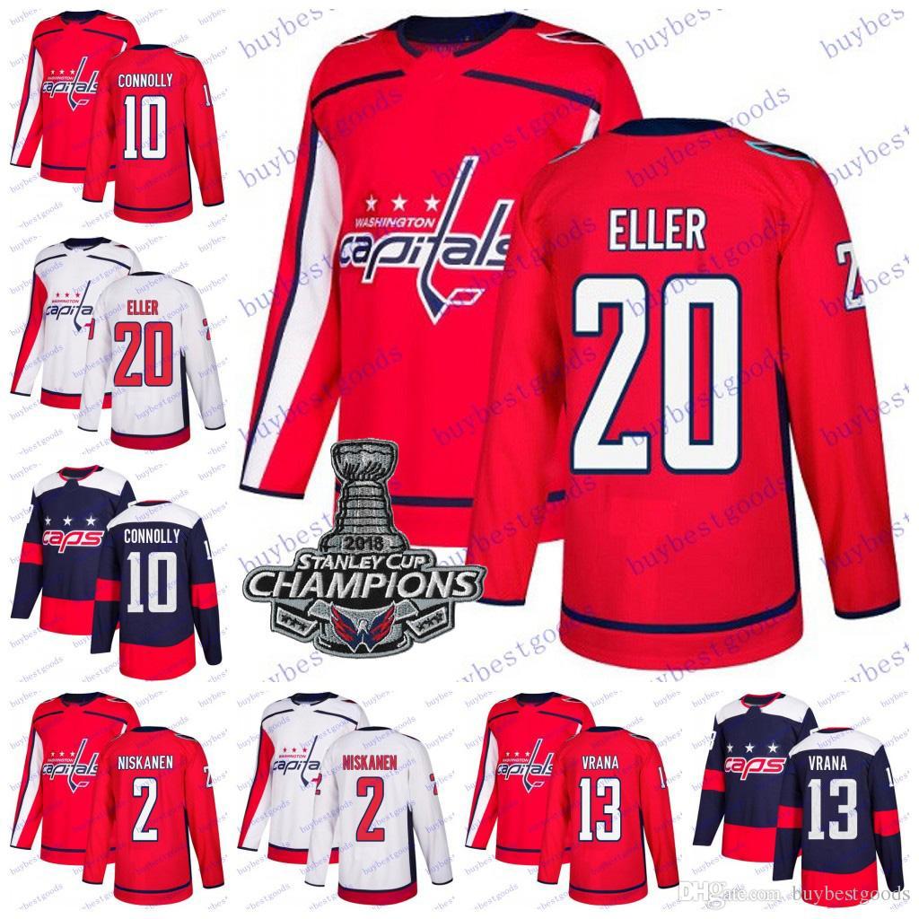 2019 Stanley Cup Champions Washington Capitals 13 Jakub Vrana 20 Lars Eller  10 Brett Connolly 2 Matt Niskanen Hockey Jersey Men Women Youth UK 2019  From ... f28df80065fd