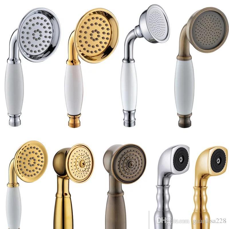2018 High Quality All Bronze Bathroom Shower Heads Hand Shower Gold ...