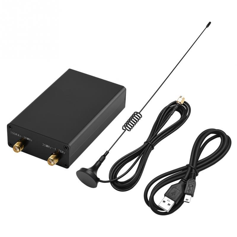 100KHz-1 7GHz Full-Band Software Radio HF FM AM RTL-SDR Receiver with  Antenna Receivers