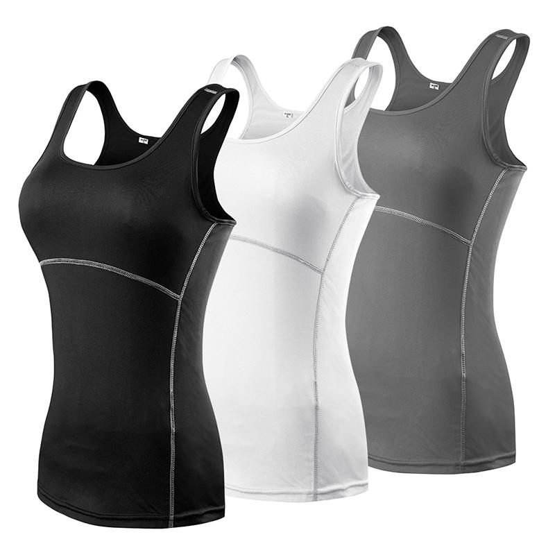 3b2bd5a1f1cd8 Womens Yoga Running Sleeveless Tank Top Athletic Compression Yoga ...