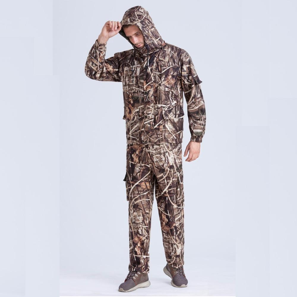 a3deacb30b60 Mens Hunting Clothes Jacket Hunting Pants Water-resistant Windproof ...