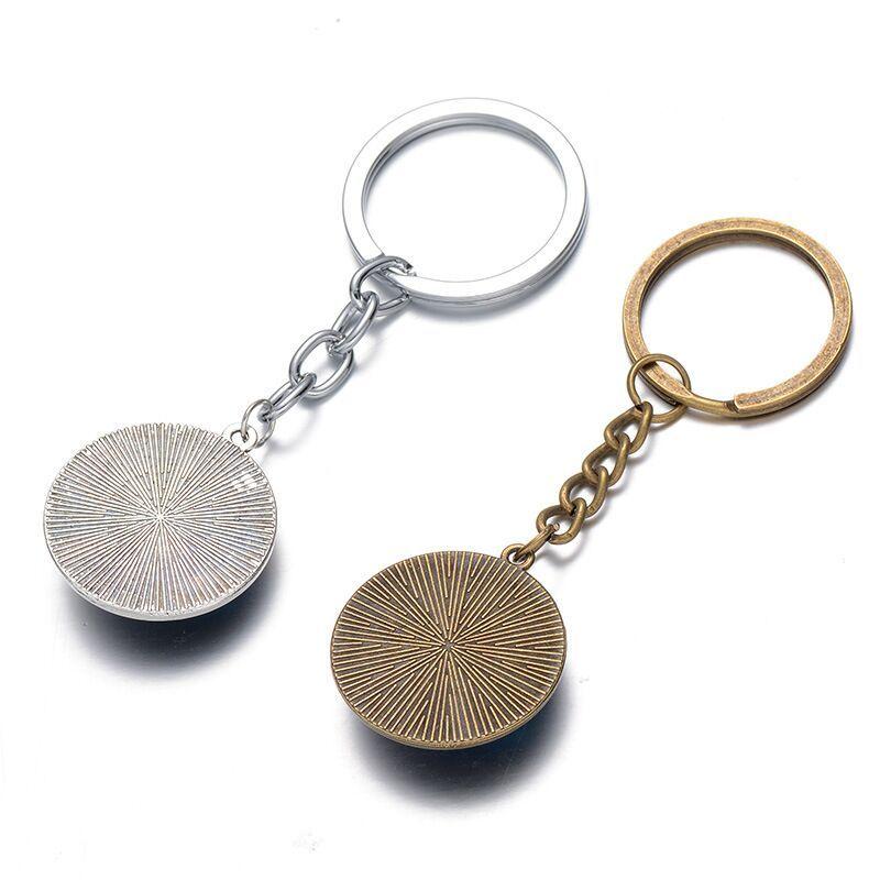 men silvery round Time Gem Cabochon SHIELD hawk KeyChain SHIELD eagle KeyChain S.H.I.E.L.D. falcon Key Chain Ring y163
