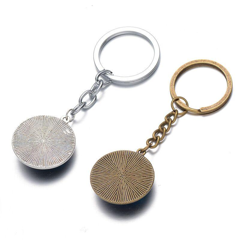 Trendy men alloy Copper Plated round Time Gem Cabochon Westworld KeyChain Westworld logo KeyChain Westworld Key Chain Ring 2018 y160