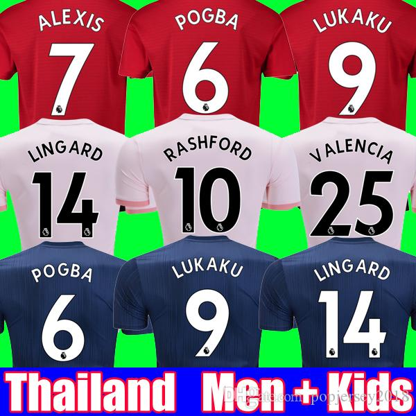 33db541ba MEN And Kids Set Top Thailand Manchester Soccer Jersey 2019 United ...