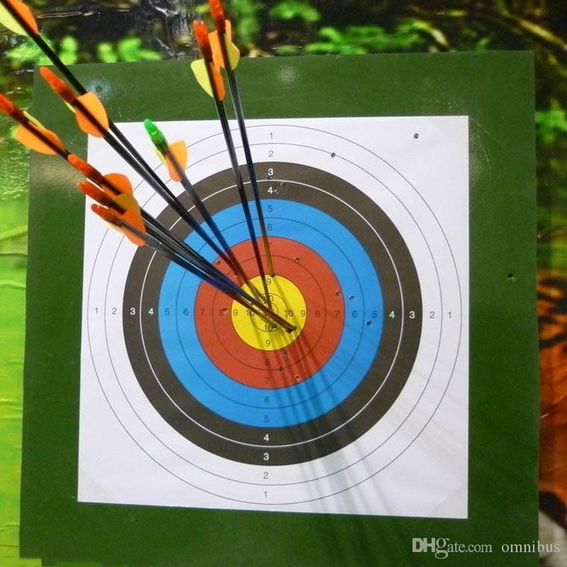 ... 60X60 Cm Tiro Anel Completo Tiro Com Arco Tiro Ao Alvo Arco Flecha Set  Caça Ao Ar Livre Caça Alvo Especial Tiro De Papel De Treinamento De Omnibus 3818e201746