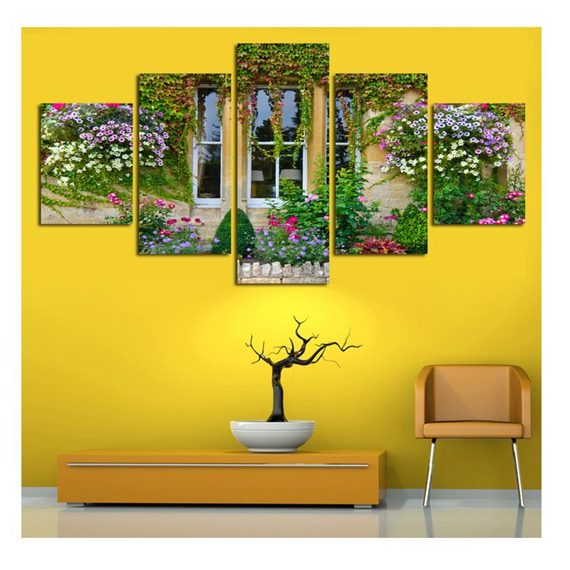 2018 Full Diamond Embroidery Window Flowers Diy Diamond Paintings ...