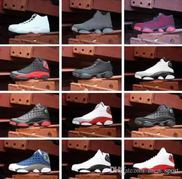 best sneakers 66931 949a7 Großhandel 2018 Neu 13 Xiii Woven Horizont Alle Weiß Schwarz Katze  Gezüchtet Playoffs Bordeaux Weizen Navy Hyper Basketball Schuhe Jumpman  Future 13s ...