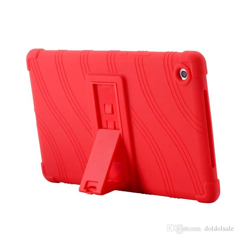 Soft Silicon Rubber TPU Back Cover for Huawei Mediapad M5 8.4 SHT-AL09 SHT-W09 8.4 inch Tablet Protective Pouch Bag Case Stand