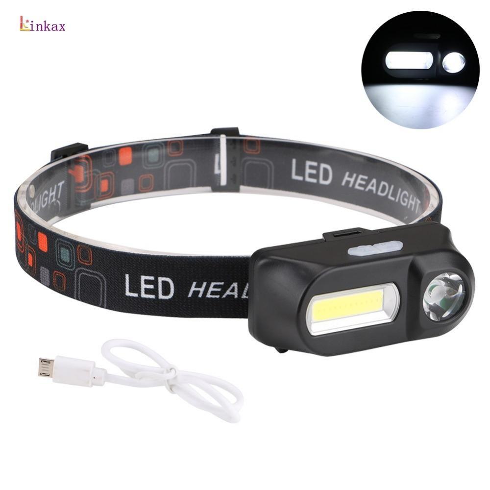 6MODES Projecteur étanche Rechargeable LED Lampe Frontale Phare batterie USB FR