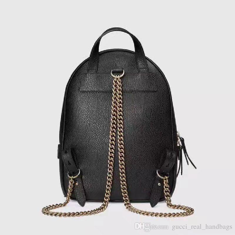 9e9fb8e3f88 2018New Top Pu Brand Backpacks Designer 2017 Fashion Women Lady Black Red  Rucksack Bag Charms  54878 Dakine Backpack Best Backpack From  Gucci real handbags