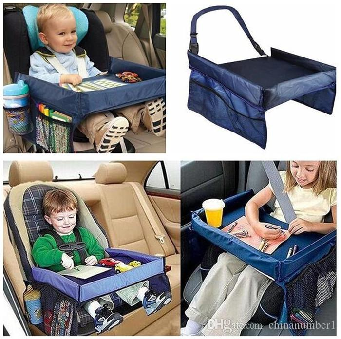 Baby Car Safety Belt Travel Play Tray Waterproof Foldable Table Baby ...