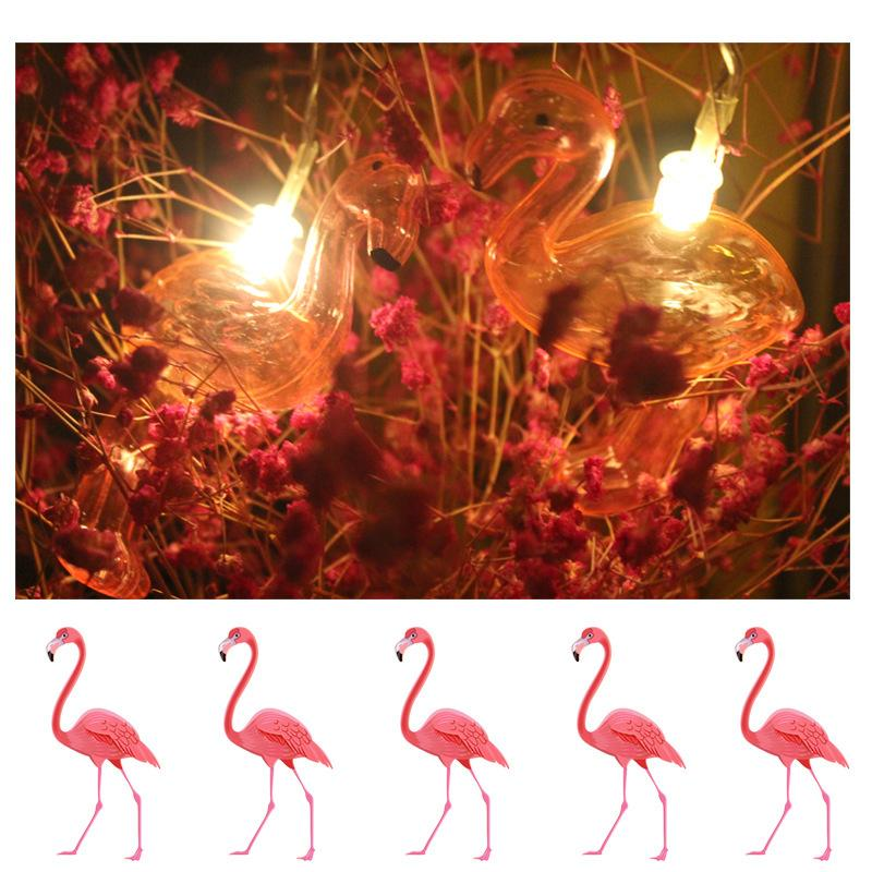 40 led 20 ft waterproof flamingo lights bedroom decorations christmas wedding decorations small led colorful lights flashing lights party decorations - Christmas Party Decorations On A Budget