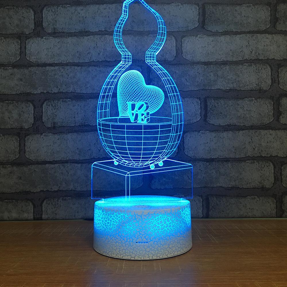 2019 Manufacturer Multi Function 3d Desk Lamp Seven Color Touch Lamp