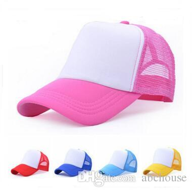 Cheap Blank Trucker Mesh Hat Spring Summer Snapback Baseball Cap for ... b7726004abaf