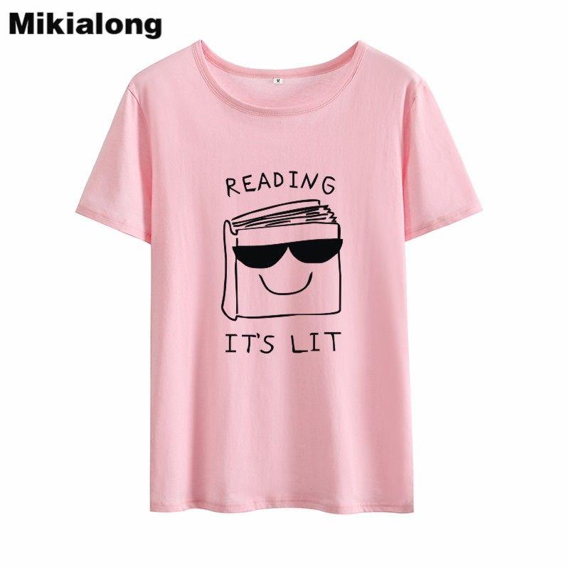 0c29b9f910b Women S Tee Mrs Win Reading It S Lit Book 2018 Funny Graphic Tees Women Hip  Hop Loose T Shirt Women Cotton O Neck Tshirt Feminina Tops Skull T Shirts  Tea ...