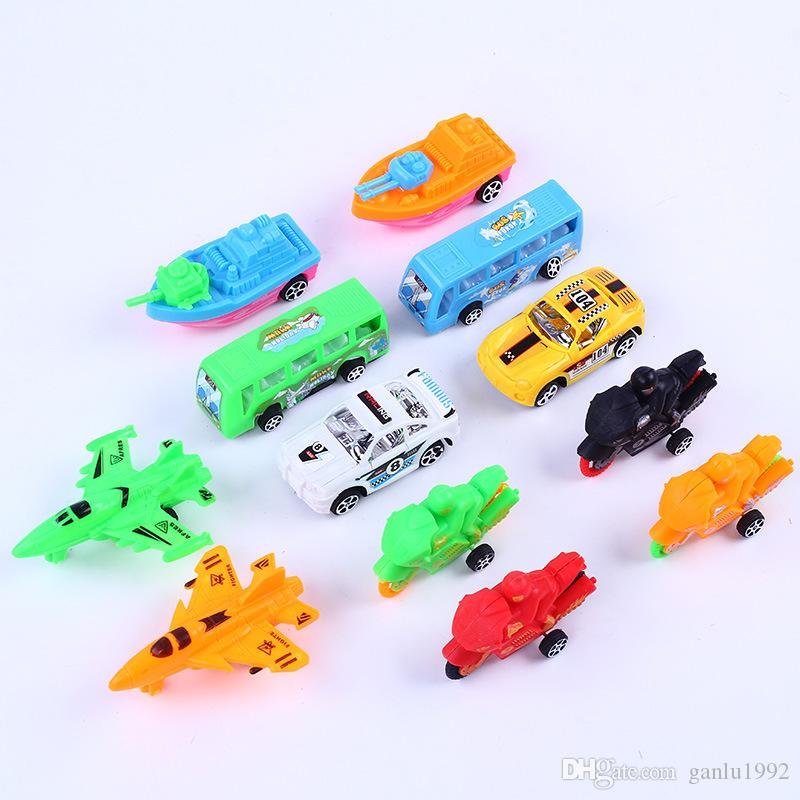 Pull Back Small Vehicle City Traffic Children Kid Toy Gift Creative Plastic Car Racing Special Police Unit Simulation Modeling 6 6qj V