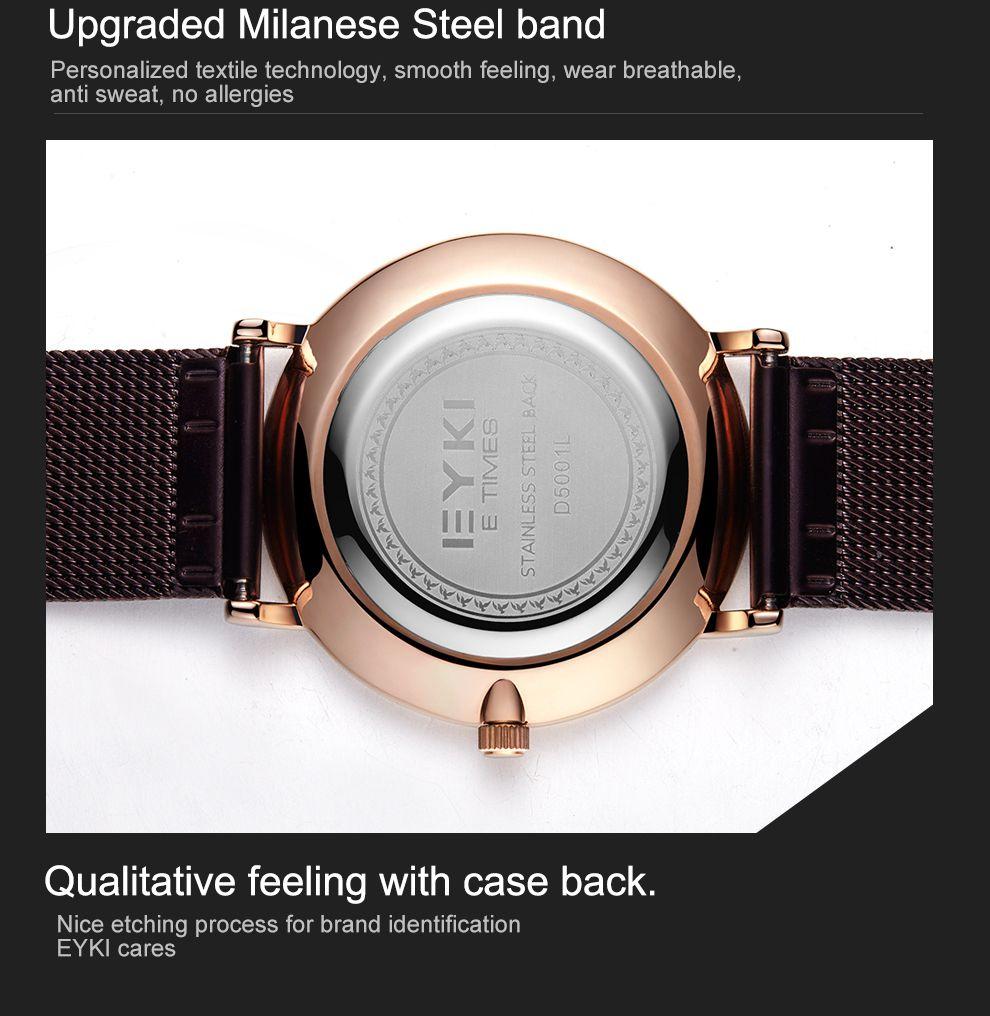 2018 EYKI Luxury Men Watch Dress Men Watches Business Watch Classic T Style Clock Brand Casual Analog Quartz Waterproof Wristwatch