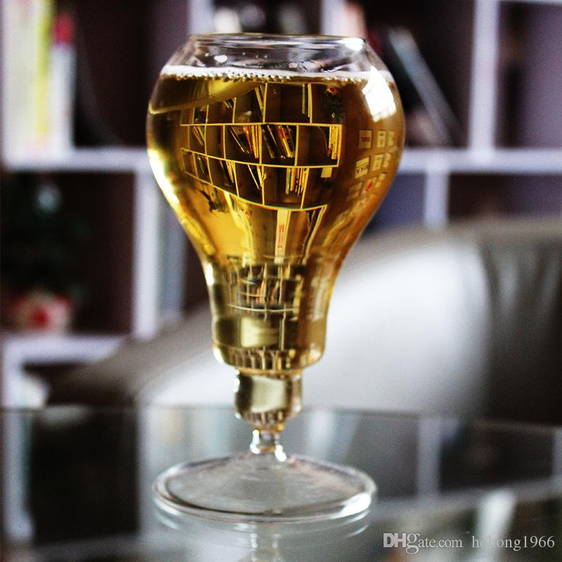 Cute Vintage Style Bulb Shape Beer Cup Creative Novelty Modern Wine Glass For Bar Home Desktop Decoration Fashion Steins 16tr Z