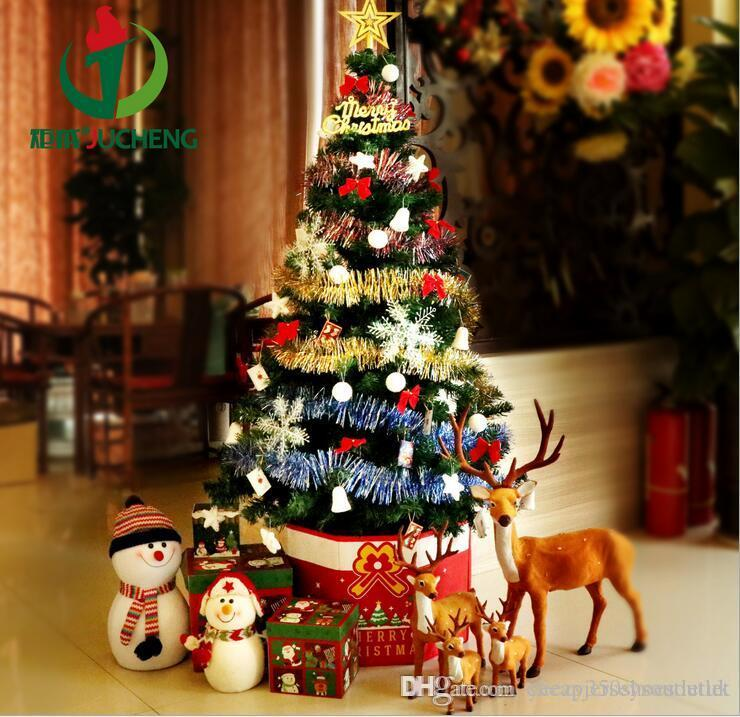 christmas decorations 15 m christmas tree set 150cm encryption with decorative lights christmas tree wholesale christmas decorations christmas gifts - Religious Christmas Decorations To Make