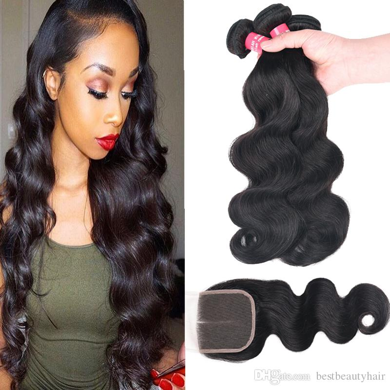 8a Remy Brazilian Hair Weave Body Wave Straight Loose Wave Kinky