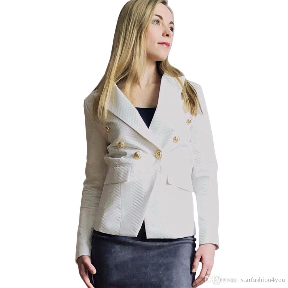 new with label Brand B Design Women's Ladies Females Herringbone pattern Double-Breasted Jacket Blazer outwear Metal Buckles