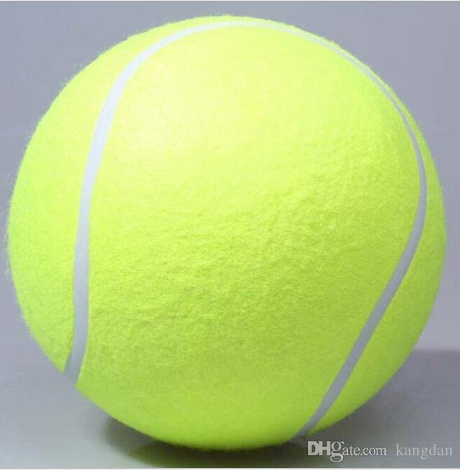 24 cm grand balle de tennis gonflable géant balle de chien chien à mâcher jouet signature Mega Jumbo enfants jouet balle en plein air balles de formation de chien en gros
