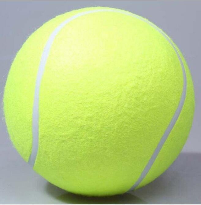 24cm grand ballon de tennis jouet chien gonflable balles de tennis mâche jouet 9.5inch géant jouet pour animaux de compagnie