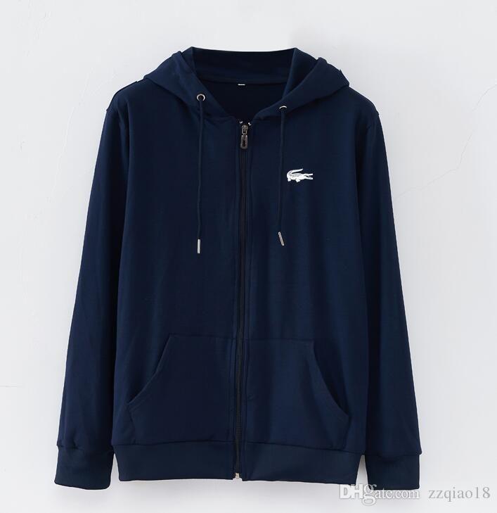 a70bd9f521 LACOSTE Wholesale, retail men Luxury Brands Hoody long sleeve Story  Sweatshirts Cotton Hooded Pullover Hoodie men's casual coat