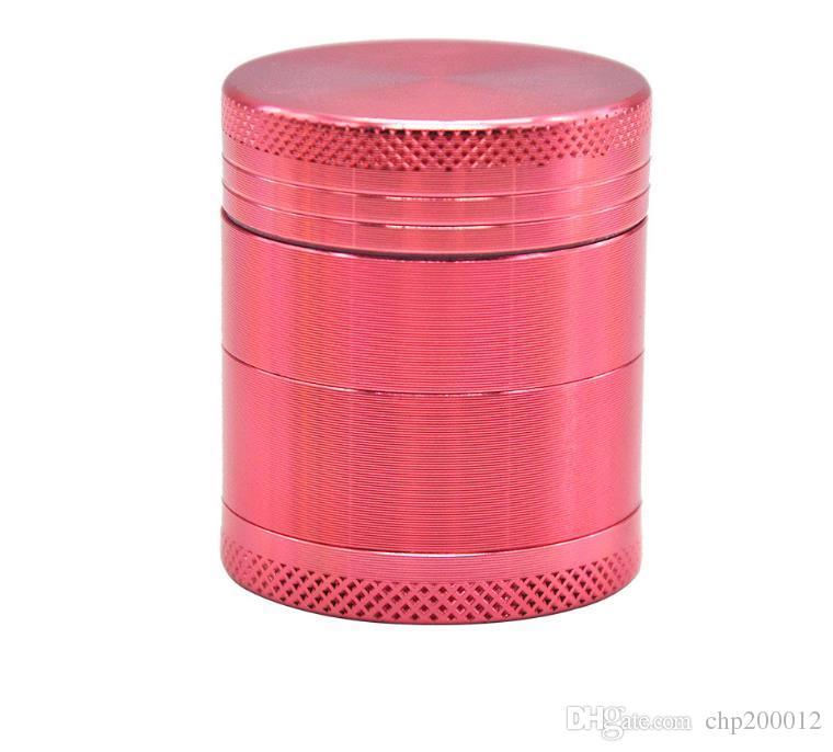 40mm4 camada de alumínio de liga de poluição de quatro camadas de alumínio CNC caixa de cigarros dentada moedor de fumos de metal disjuntor