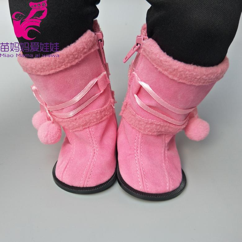 Compre Zapatos De 7.5 CM Se Adapta A 43 Cm Zapf Zapatos De Muñeca De Bebé  Botas De Invierno Rosa Muñeca De Bebé Hightops 18 Pulgadas Botas De Juguete  De ... 0ffa952e088