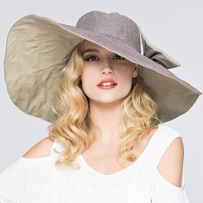 2018 Summer Women Outside Big Sun Hat Europe Fashion Double Side Vacation Beach  Hats Female Foldable Sunscreen Hat Fishing Hats Funny Hats From Yongq d3f7ed2818c