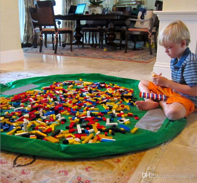 bebê jogar mat brinquedo saco de armazenamento brinquedos de armazenamento portátil saco Blanket diâmetro Tapete Caixas de Brinquedos Organizador Outdoor Picnic 150cm
