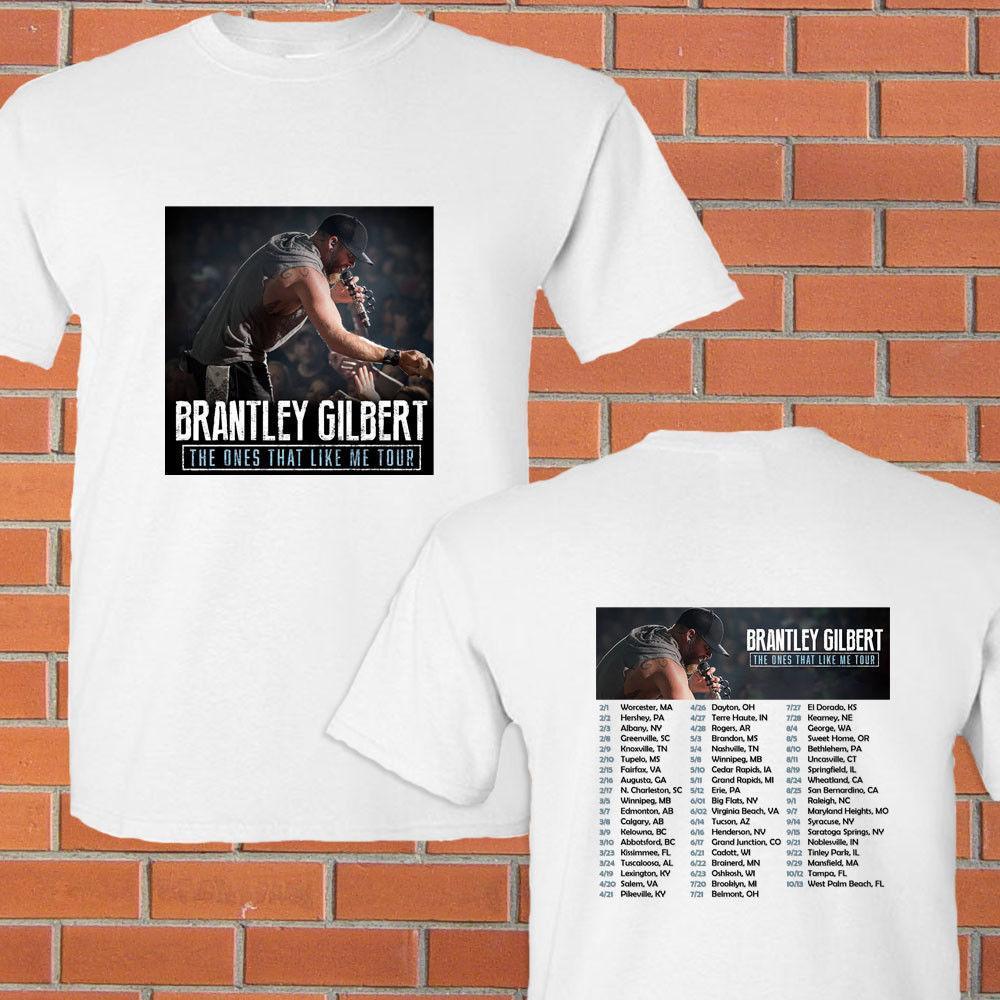 Brantley Gilbert The Ones That Like Me Tour 2018 White Tee Shirt S