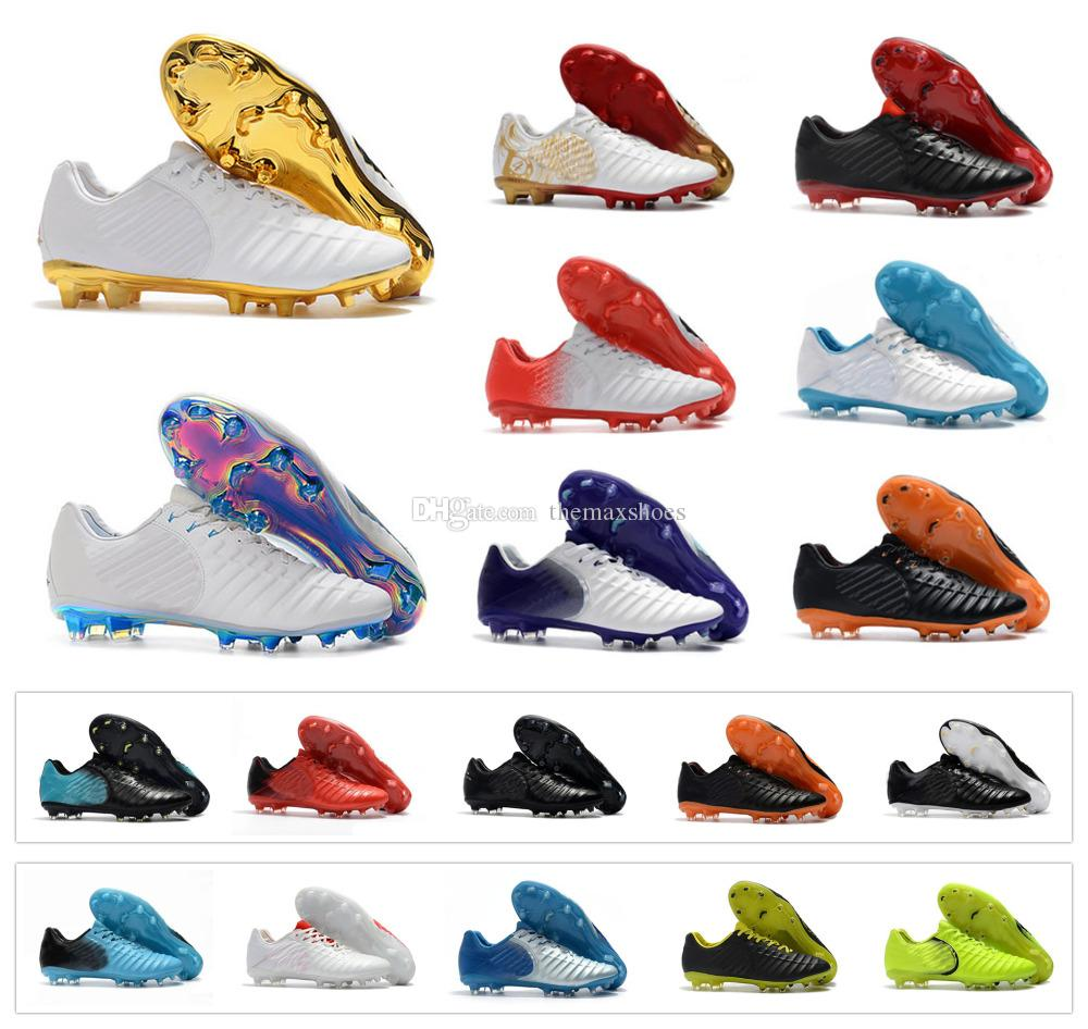 buy online 85beb 4092c Hot Tiempo Legend VII FG 7 Dare To Strike Mens Low Ankle Soccer Shoes  Football Sergio Ramos Boots Cleats US 6.5-11