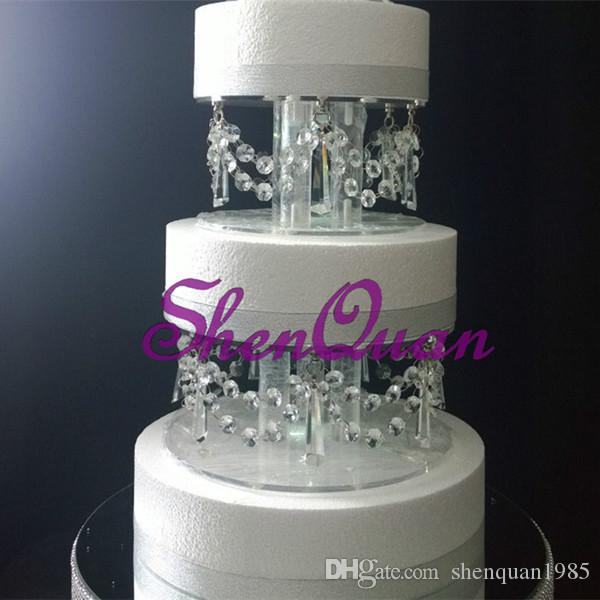 Birthday party display cake rack 2-layer acrylic wedding decorative cake stand,high quality perfet cake dessert tray
