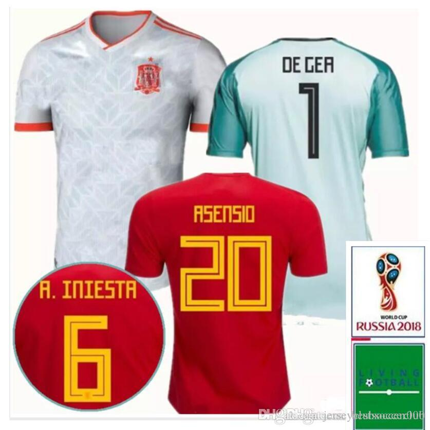 c26fc04fe ... best price 2018 2018 spain home away soccer jerseys 18 19 morata isco  asensio ramos national