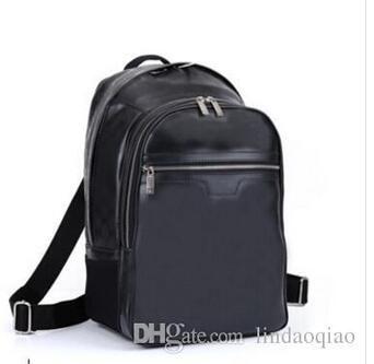highest quality 100% genuine leather MICHAEL backpack MICHAEL N58024 man's damier graphite canvas backpacks Bag 45*26*17CM
