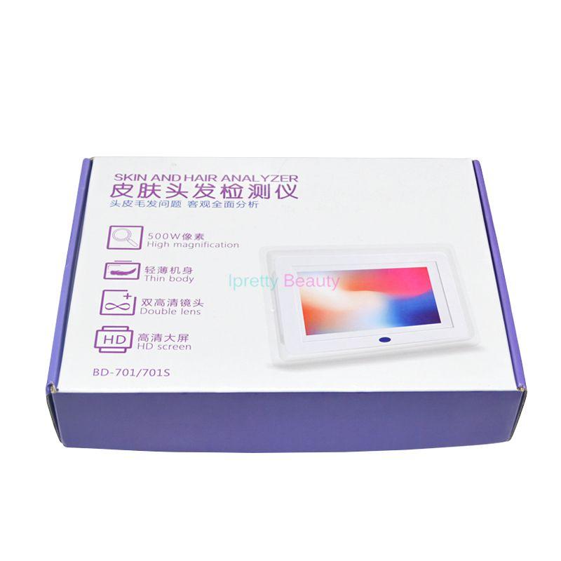 와이파이 휴대용 2 1 목재 램프 얼굴 피부 분석기 헤어 자외선은 피부 분석 기계 피부 수분 오일 테스터 아름다움 기계를 공개 분석
